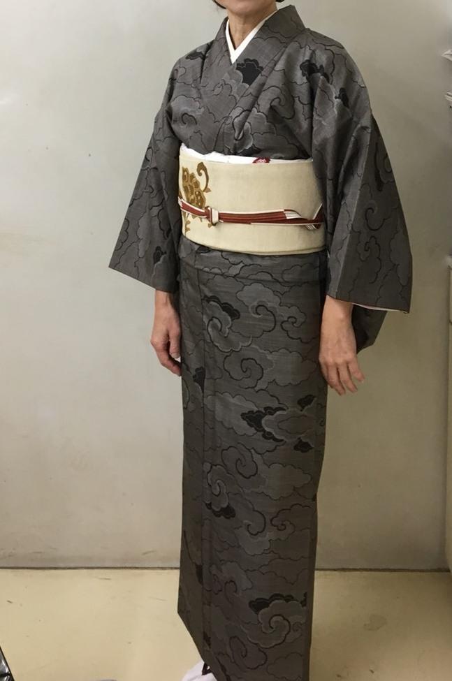 大島紬と加工の名古屋帯