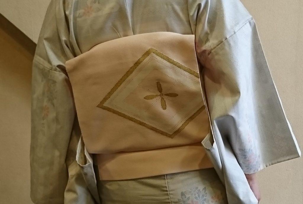 斜子織の八寸名古屋帯